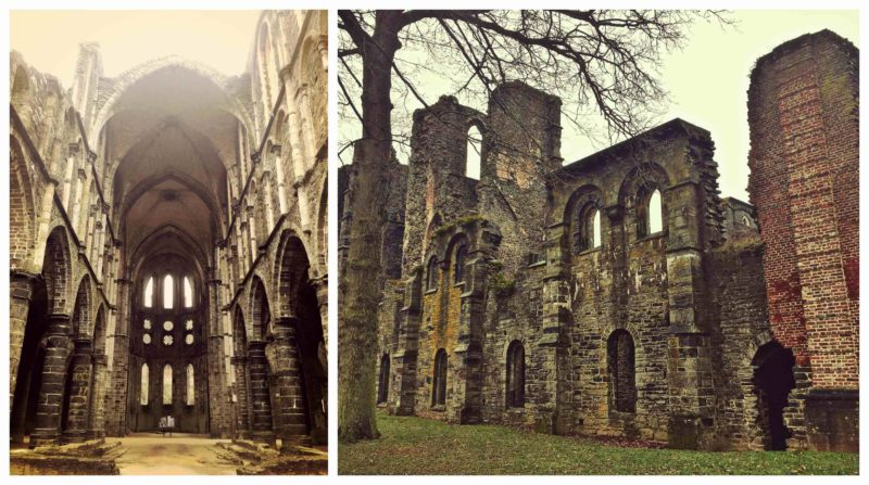 Abbaye de villers dans le brouillard