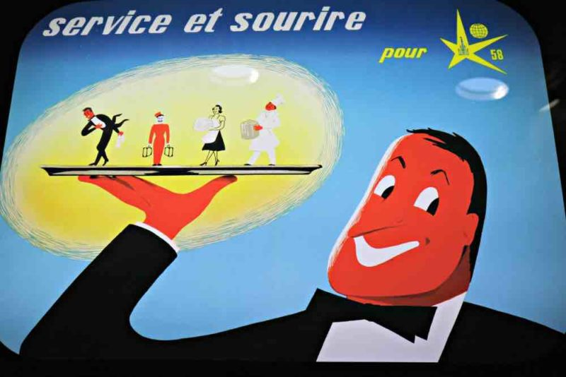 Affiche de l'exposition universelle de 1958