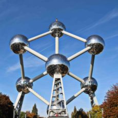 Atomium de Bruxelles en automne