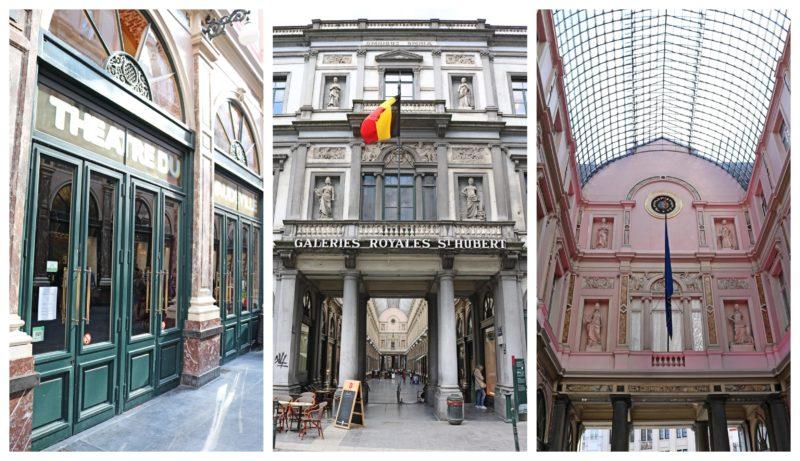 Entrée des Galeries Royales à Bruxelles