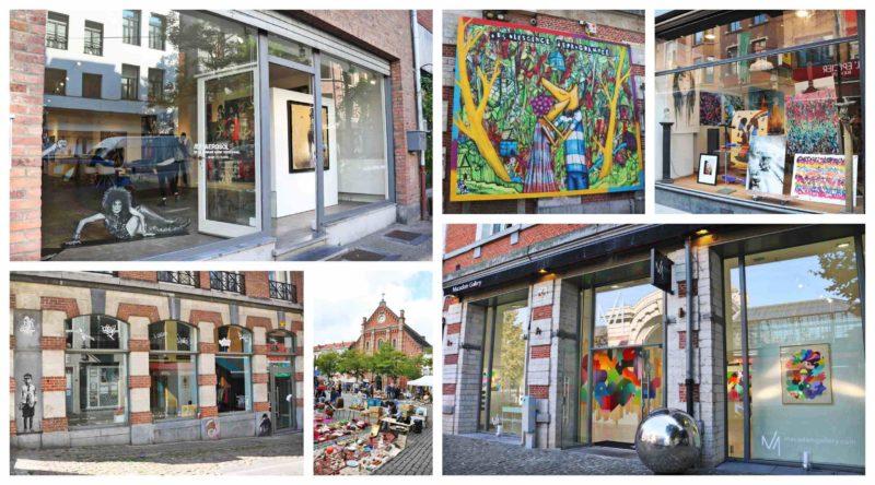 Street art dans les galeries