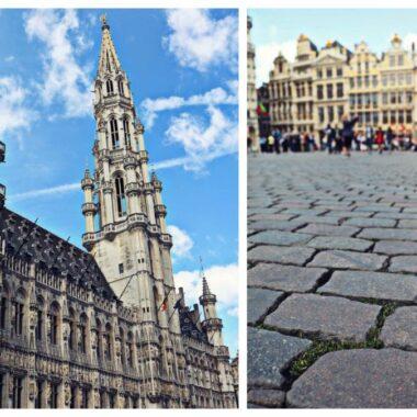 Pavés sur la Grand-Place de Bruxelles
