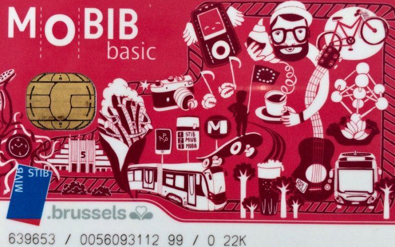 Carte Mobib Transports en Commun STIB