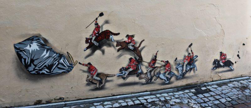 Jaune Street Art à Bruxelles