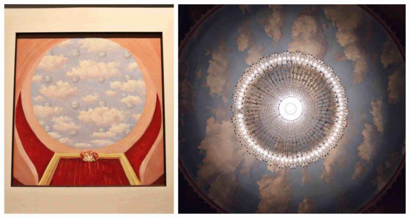 Plafond Théâtre Royal des Galeries par Magritte