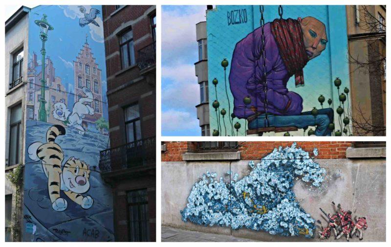 Parcours Street Art Sainte Catherine Bruxelles