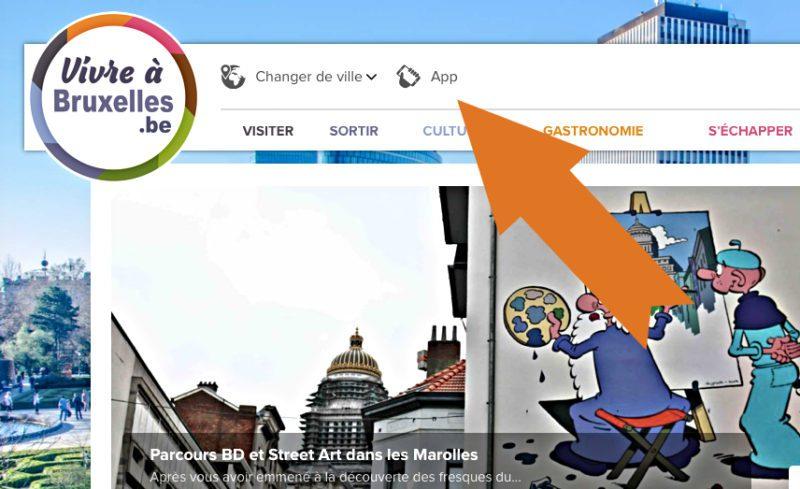 Nouvelle App Vivre à Bruxelles