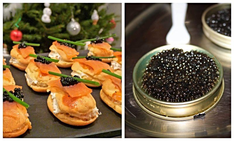 caviar saumon repas de Noël