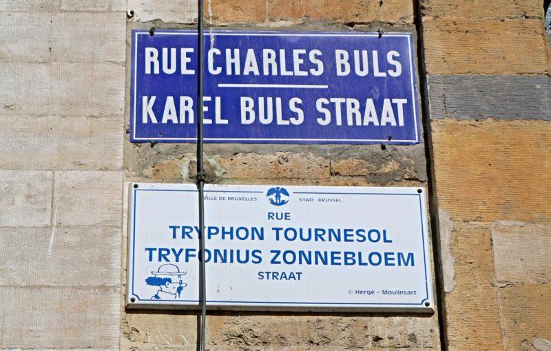plaques de rues BD à Bruxelles