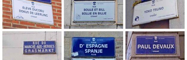 plaques de rues BD Bruxelles