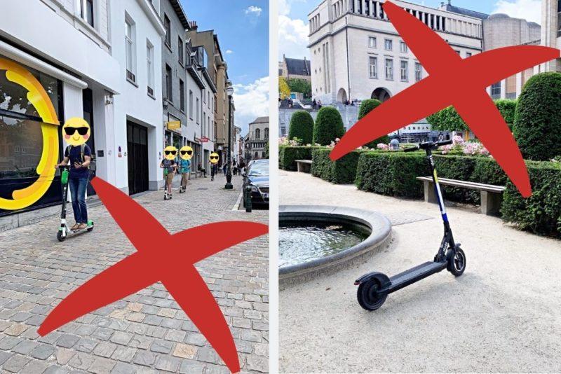 Réglementation trottinettes Bruxelles
