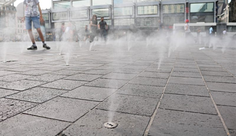 Bruxelles quand il fait trop chaud
