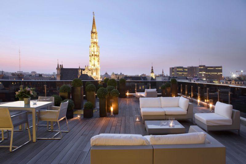 Secret rooftop hôtel Warwick Bruxelles